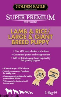Golden Eagle Super Premium<br />Lamb & Rice/Large &Giant Breed Puppy 23/12